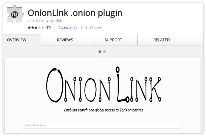 Расширение Onion Link Tor Browser