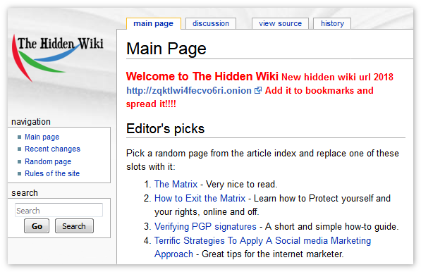 The Hidden Wiki Tor Browser