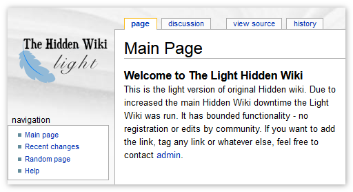 The Light Hidden Wiki Tor Browser